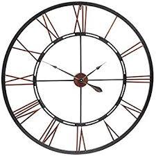 large outdoor garden wall clock giant open face big roman numerals