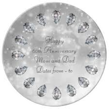 60th wedding anniversary plate commemorative plates zazzle