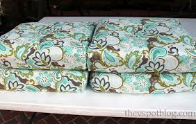 decor stylish green turquoise color patio chair cushion in floral