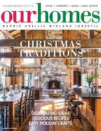 on stands our homes barrie holiday winter 201 our homes magazine