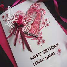 write lover name on birthday wishes special card pics