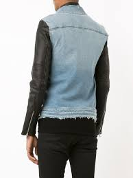 rta denim layered jacket black men clothing leather jackets rta