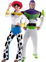 deluxe and deluxe buzz lightyear story couples costumes