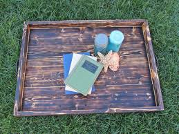 Large Serving Tray For Ottoman by Hand Made Wood Ottoman Tray Made From Reclaimed Pallet Wood