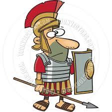 cartoon roman centurion by ron leishman toon vectors eps 98836