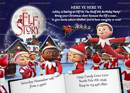 elf on the shelf invitation an elf u0027s story invite christmas
