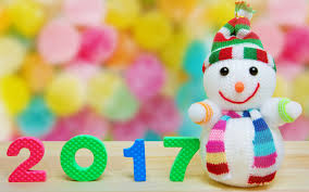 wallpaper snowman 2017 colorful 4k celebrations new year 4431