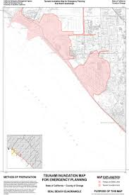 Map Of Orange County How Bad Of A Threat Are Tsunamis To Oc Oc Weekly
