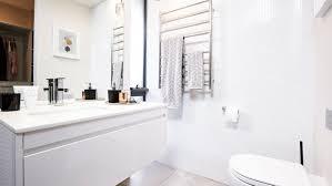 bathroom diy 4 designs for less than 10 000 each white bathroom mosaic tiles reno bunnings