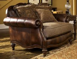 Ashley Bedroom Furniture Reviews Buy Ashley Furniture 8430323 Claremore Antique Chair And A Half