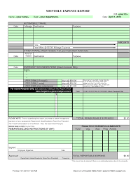 Excel Expense Report Template Free Monthly Expense Report Template Excel Thebridgesummit Co