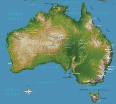 australia satellite map satellite map