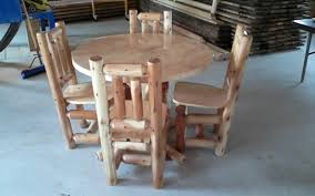 amish table and chairs amish built log living room and kitchen furniture serving all of ohio