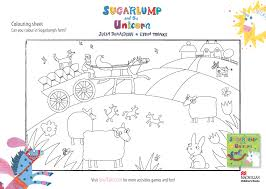 the gruffalo sugarlump and the unicorn colouring sheet