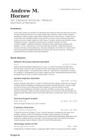 It Specialist Resume Sample by Network Specialist Resume Samples Visualcv Resume Samples Database