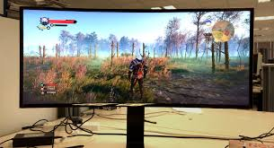 Gaming Desk For 3 Monitors by Curved Monitors Gaming Rock Paper Shotgun
