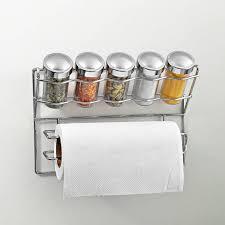 Spice Rack Holder Disha Spice Rack And Tissue Holder Steel Plastic Kitchen Rack