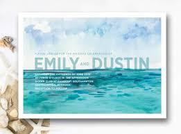 Beach Theme Wedding Invitations Designs Simple Beach Themed Wedding Shower Invitation Wording