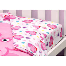 Peppa Pig Toddler Bed Set Nickelodeon Peppa Pig Toddler Bedding Set With Bonus Blanket