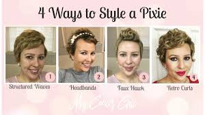 how to style a pixie cut different ways black hair 4 ways to style a pixie cut lacuna loft