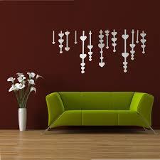 best promotion diy 3d love windbell acrylic mirror stickers wall