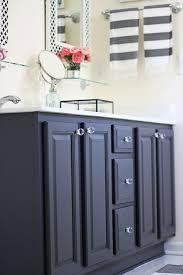 painted bathroom cabinets ideas my painted bathroom vanity before and after two blue black bath