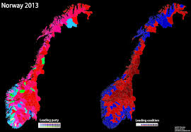 Early Election Results Map by Norway World Elections