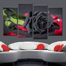 online buy wholesale black rose canvas from china black rose