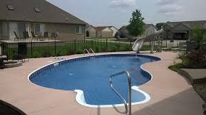 Backyard Pool With Slide - pool gallery inground custom pools