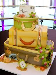 hawaiian honeymoon suitcase wedding cake a wedding cake blog