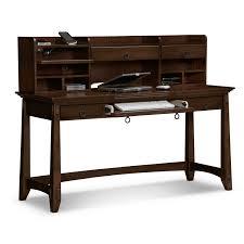 office excellent dark brown computer desk shelves drawer storage