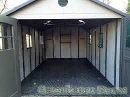 Tri Fold Doors Interior Lifetime 11x26 Tri Fold Doors Plastic Shed