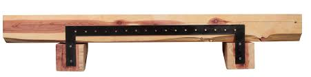 pearl mantels cedar live edge log fireplace mantel shelf u0026 reviews