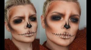 Sugar Skull Halloween Makeup Tutorial by Smokey Skull Halloween Makeup Tutorial Youtube
