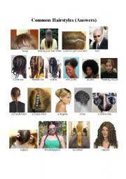 esl hairstyles worksheet names of common hairstyles