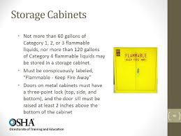 what should be stored in a flammable storage cabinet flammable liquids directorate of training and education ppt video