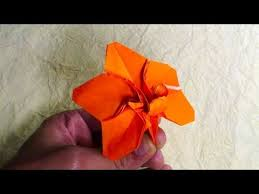 origami orchid tutorial origami orchid blossom robert j lang youtube