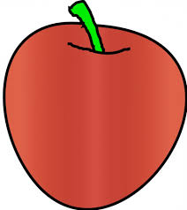 simple apple drawing simple drawing of a whole and half an apple