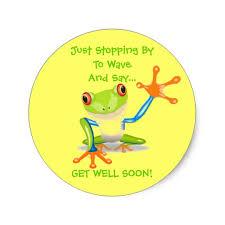 get well soon kid frog animal kids get well soon classic sticker