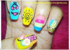 my summer nail art the nail art and beauty diaries
