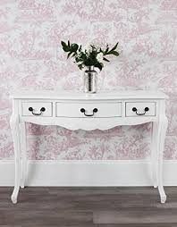 White Hallway Table Juliette Antique White Console Table Hallway Table Co Uk