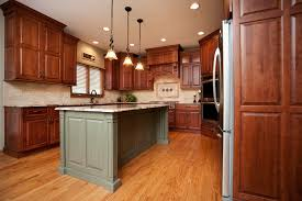 Kitchen Backsplash Cherry Cabinets by Seven Bridges Stunner River Oak Cabinetry U0026 Design