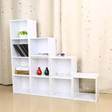 amazon com wooden bookcase shelf 4 tier bookcases cube shelving