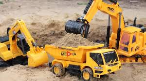 excavators for children and truck for children with 1 hour long
