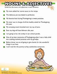 thanksgiving grammar worksheet education