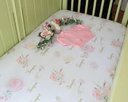 girly crib bedding etsy