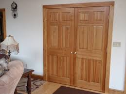 bedroom farmhouse white stained beadboard closet doors with