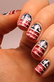 packapunchpolish distressed american flag nail art