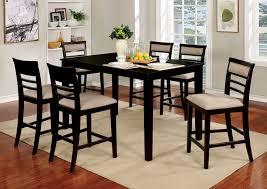 fafnir espresso finish 7pc counter height dining table set w