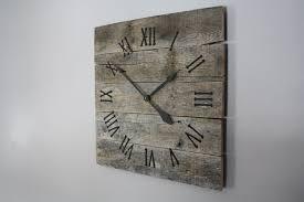 innovative rustic wood wall clock 45 rustic wood and metal wall